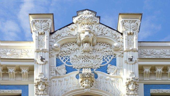 calle alberta riga letonia art nouveau